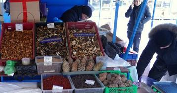 Шарташский рынок: грибы-ягоды