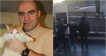 Полиция задержала москвича во время выгула собаки на Патриарших