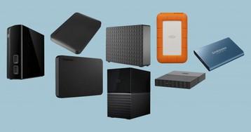 14 внешних жёстких дисков и SSD для работы из дома и не только