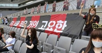 Korean soccer club apologizes for filling empty stands with sex dolls