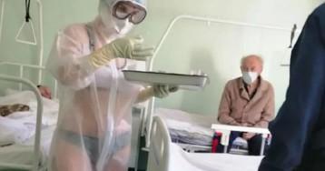 Минздрав возмутила медсестра из Тулы из-за ее защитного костюма