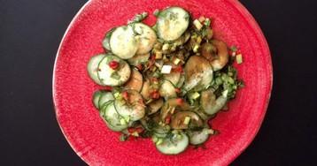 Трансильванский огуречный салат