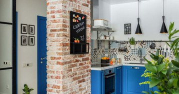 Кухни в коридоре: примеры из российских проектов