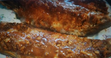 Скумбрия запеченная с чеснок и паприкой