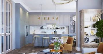 Проект недели: красивая квартира в голубых тонах
