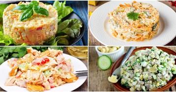 Подборка вкусных и разнообразных салатов