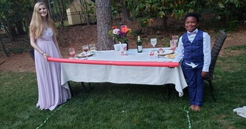 7-year-old creates prom for his babysitter