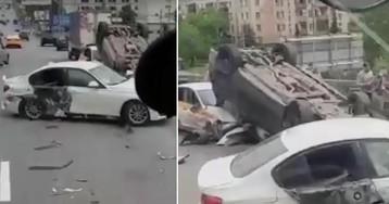 «Блатной» Mercedes устроил массовое ДТП в Москве