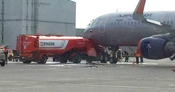 Самолет «Аэрофлота» столкнулся с бензовозом в Шереметьево