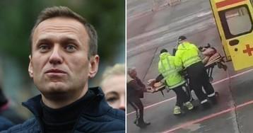 Частный самолет прибыл за Навальным в Омск из Германии