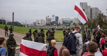 Двое россиян задержаны рядом с акцией протеста в Минске