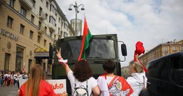 В Минске начали задерживать участников протестной акции