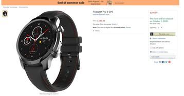 TicWatch Pro 3 с чипом Snapadragon Wear 4100 могут представить 1 октября