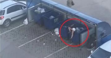 Омич в ходе ссоры выбросил девушку в мусорный бак