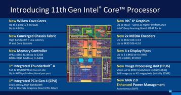 Представлены мобильные процессоры Intel Tiger Lake. Они стали намного лучше, но ядер всё ещё четыре