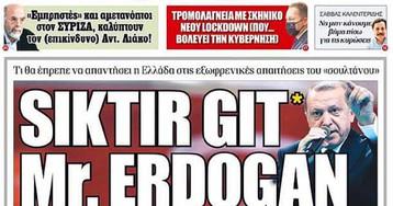 Газетный заголовок спровоцировал новый дипскандал между Турцией и Грецией