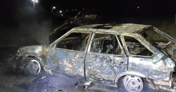 В Запорожской области сгорел автомобиль, - ФОТОФАКТ