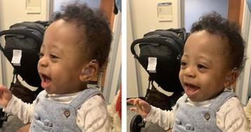 Малыш, родившийся глухим, впервые услышал голос матери: в Сети показали трогательные кадры