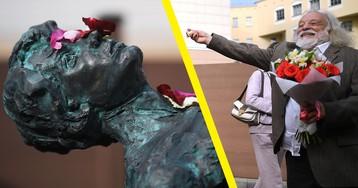 «Срочно уберите». Москвичам не понравился новый памятник Есенину