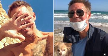 Панин показал, как он счастлив на нудистском пляже в Испании (ВИДЕО)