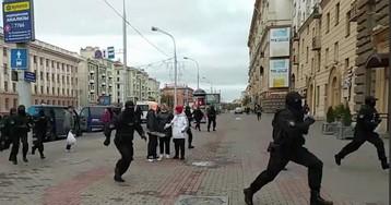 МВД Белоруссии: силовики стреляли резиновыми пулями в воздух
