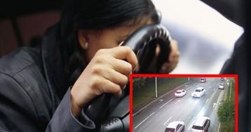Пьяная женщина на лысой резине устроила гонки по Киеву: в машине был ребенок (видео)