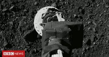 Elation as Nasa's Osiris-Rex probe tags asteroid Bennu in sample bid