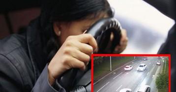 Пьяная водитель на лысой резине решила устроить гонки по Киеву: в авто был ребенок. ВИДЕО