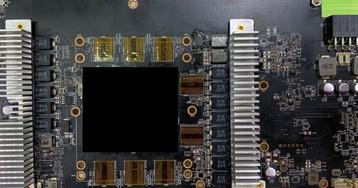 Фото опытного образца видеокарты Radeon RX 6800 (XT)
