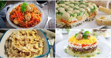 7 рецептов приготовления салатов с грибами