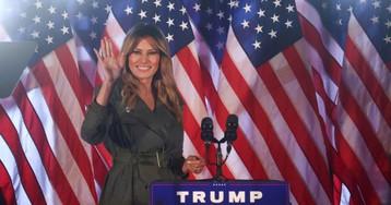 Первая леди США впервые выступила на предвыборном митинге Дональда Трампа