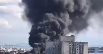 В Стамбуле загорелась больница при медуниверситете