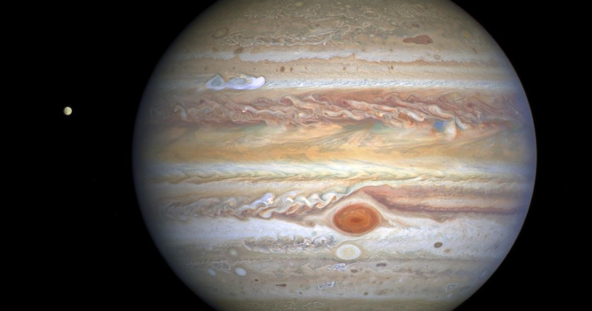 Dazzling new images of Jupiter show storm moving at 350 mph