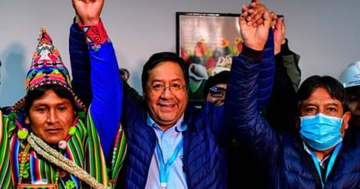 Bolivia election: exit polls suggest thumping win for Evo Morales's party