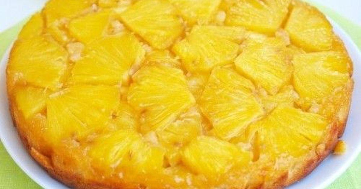 Фото Пирог с консервированным ананасом