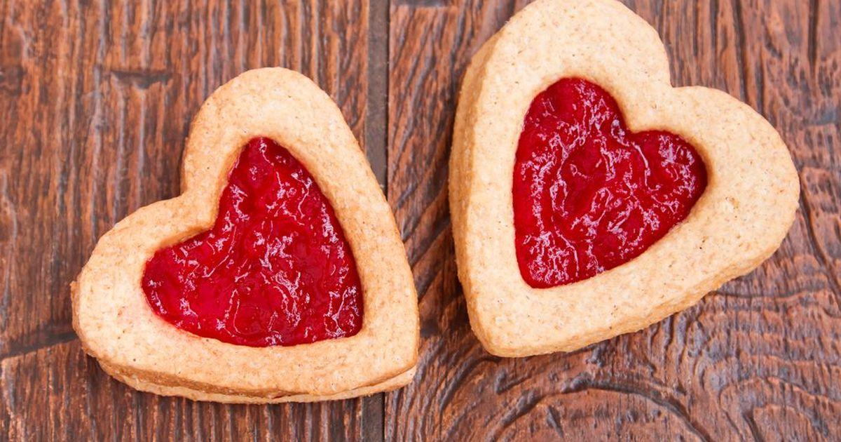 Фото Яркое и витаминное песочное печенье с фруктовым желе