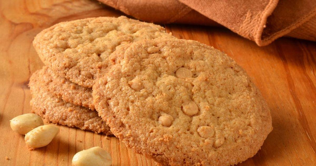 Фото Соленое печенье с арахисом и сыром