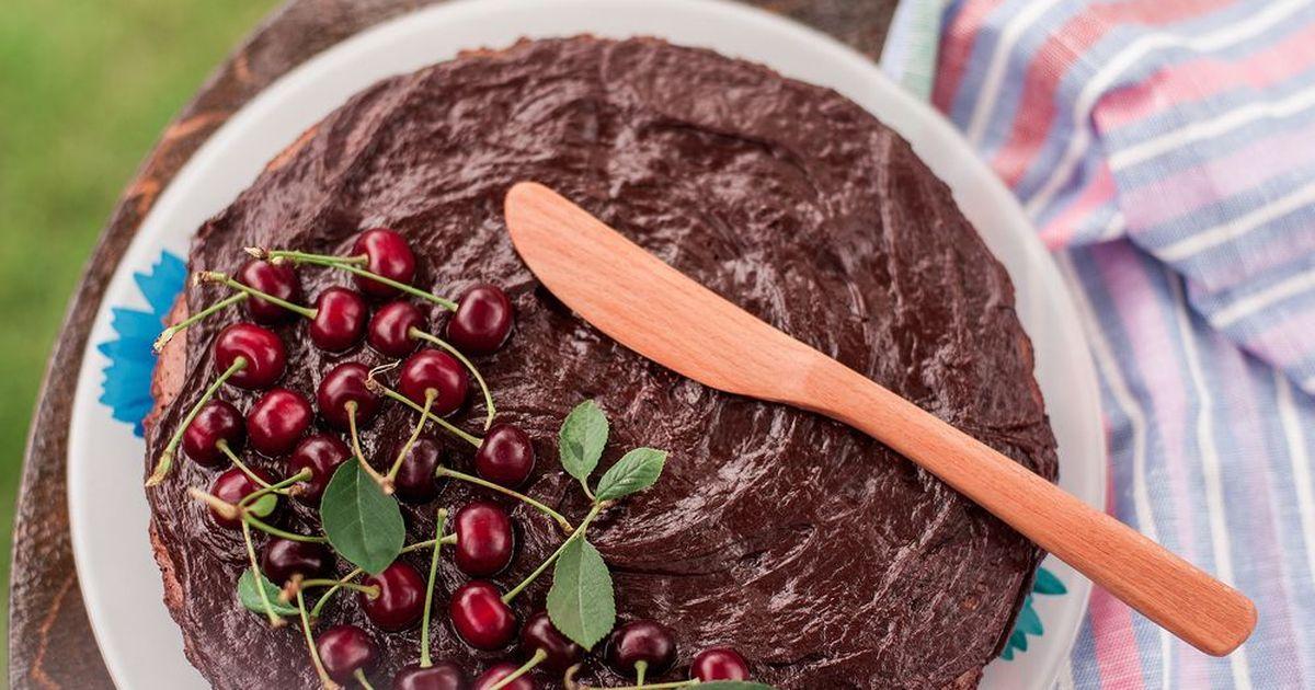 Фото Вишневый пирог с шоколадом