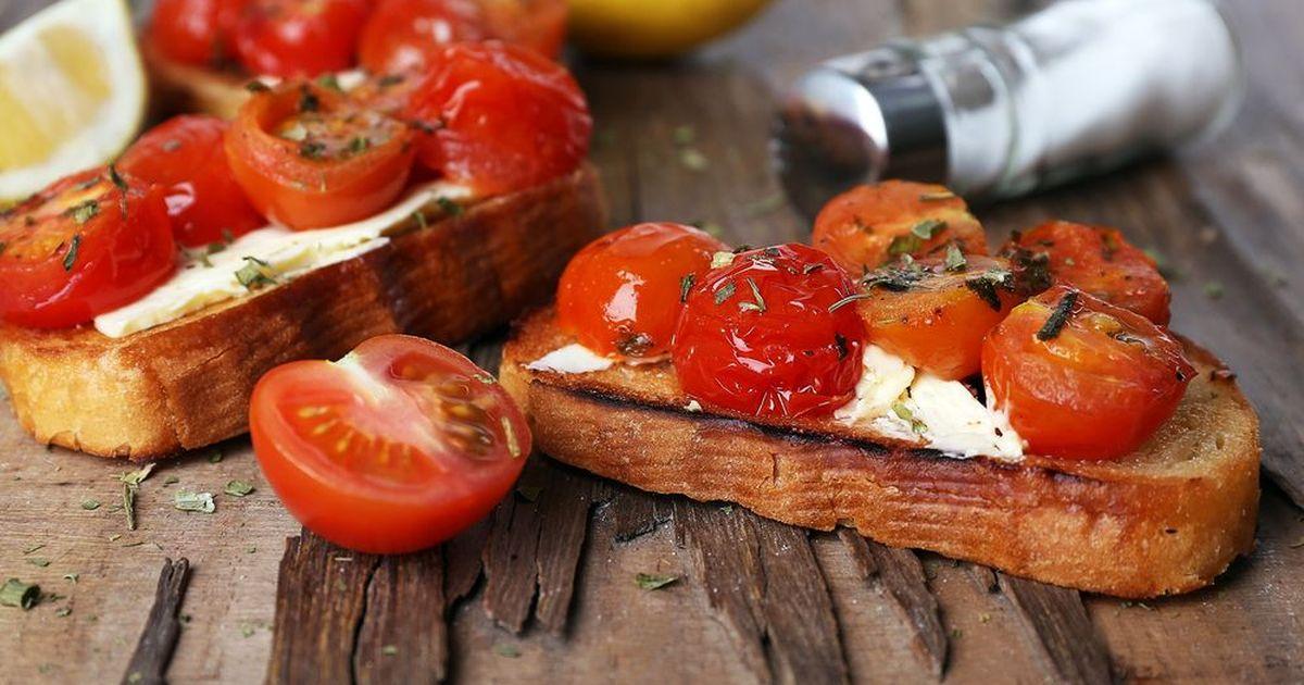 Фото Маринованные помидоры по-итальянски за 30 минут.