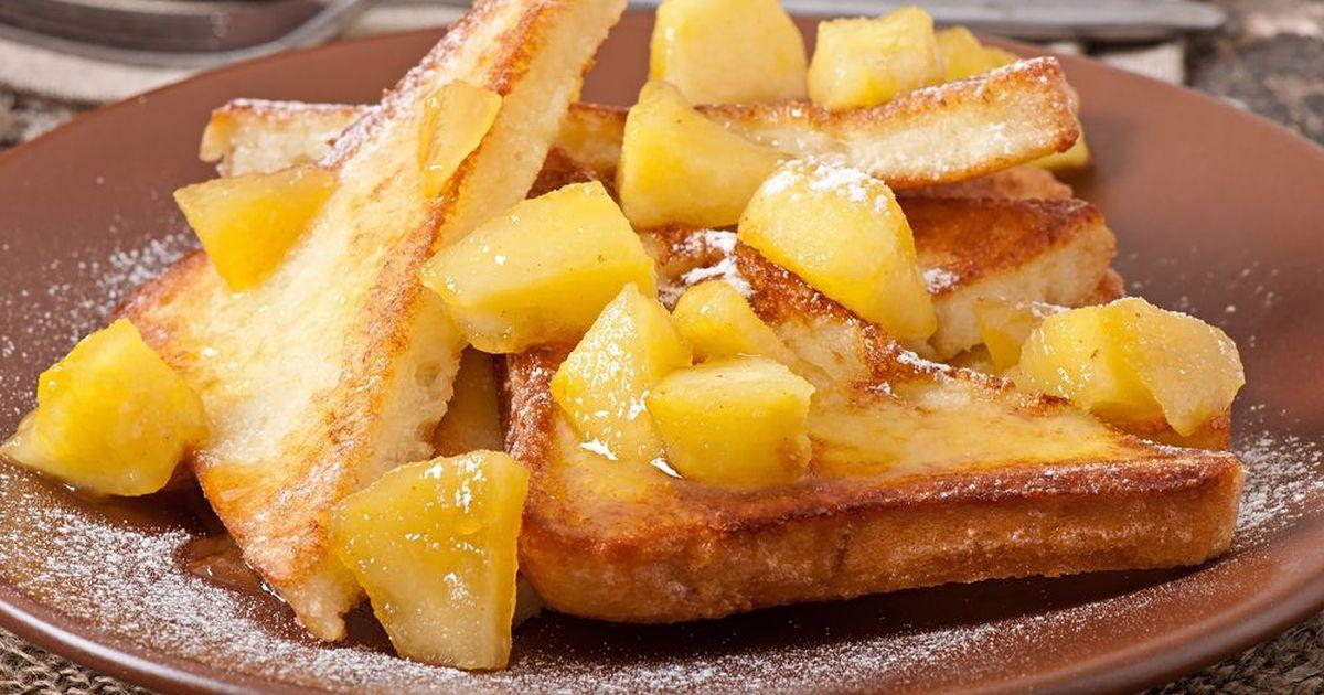Фото Французские тосты с яблоками