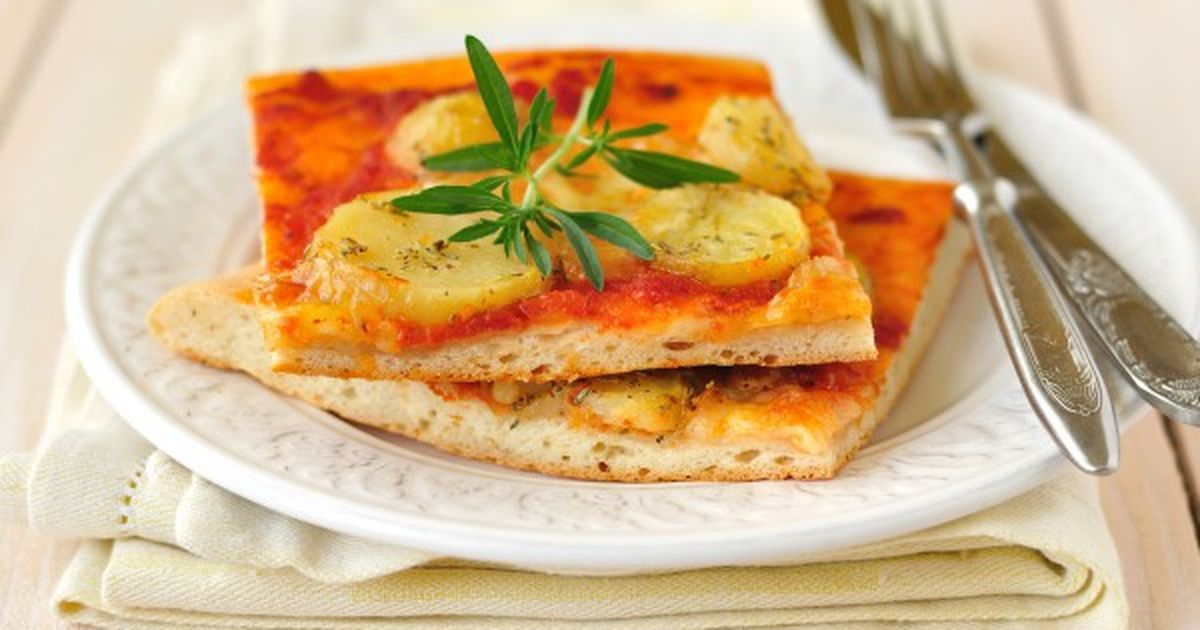 Фото Постная картофельная пицца