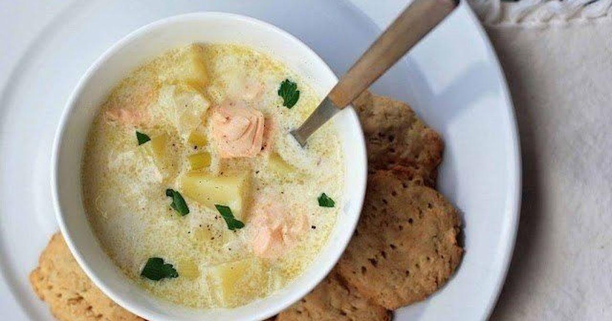 Фото Лохикейтто-финский сливочный суп с лососем