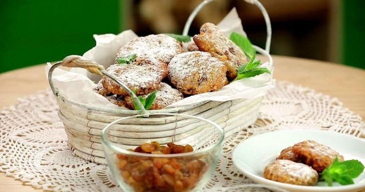 Фото Хрустящее овсяное печенье с финиками