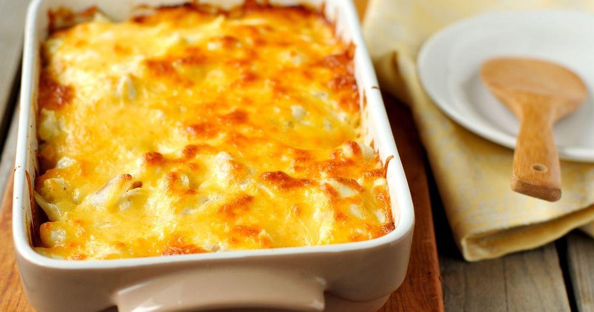 Фото Картофель, запеченный в сливках с сыром