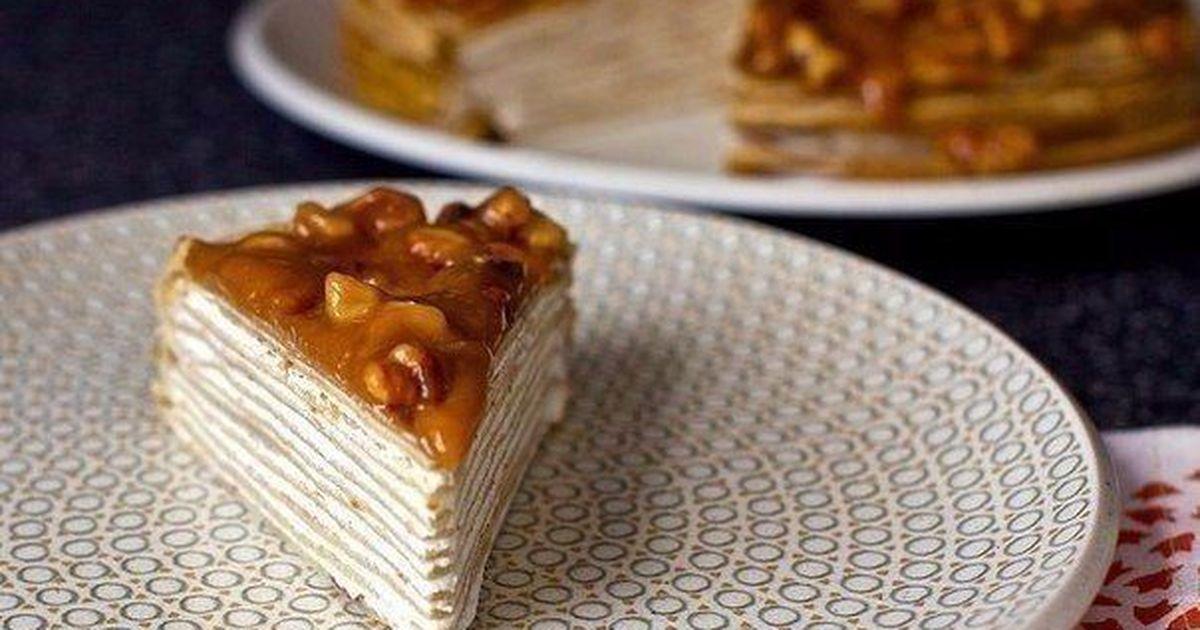 Фото Неприлично вкусный блинный торт