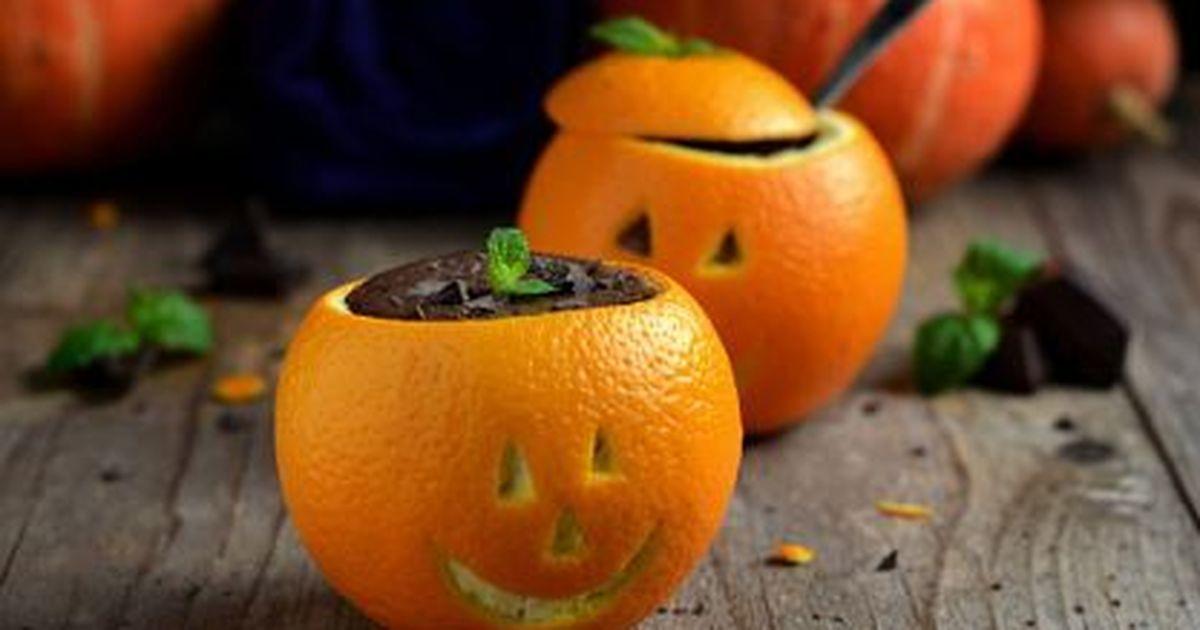Фото Шоколадный пудинг с апельсинами