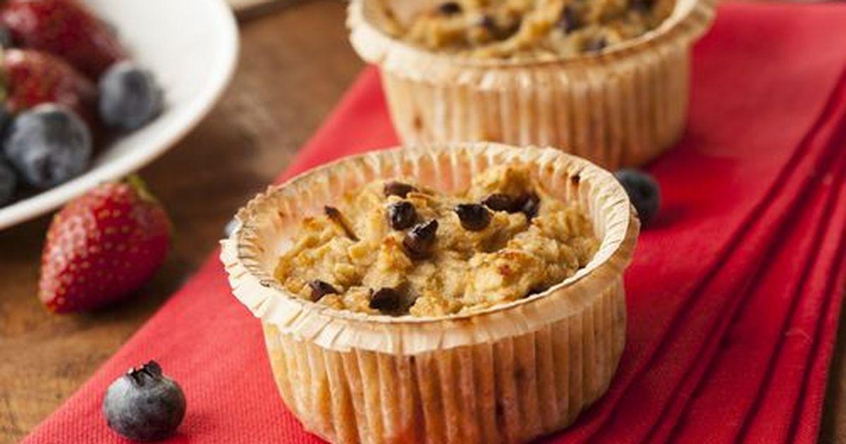 Фото Овсяные кексы с орехами и ягодами