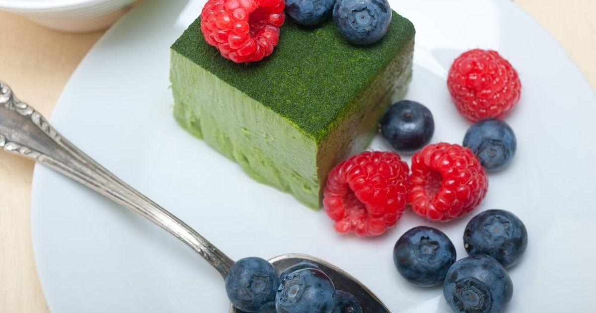 Фото Пирожные с зеленым чаем