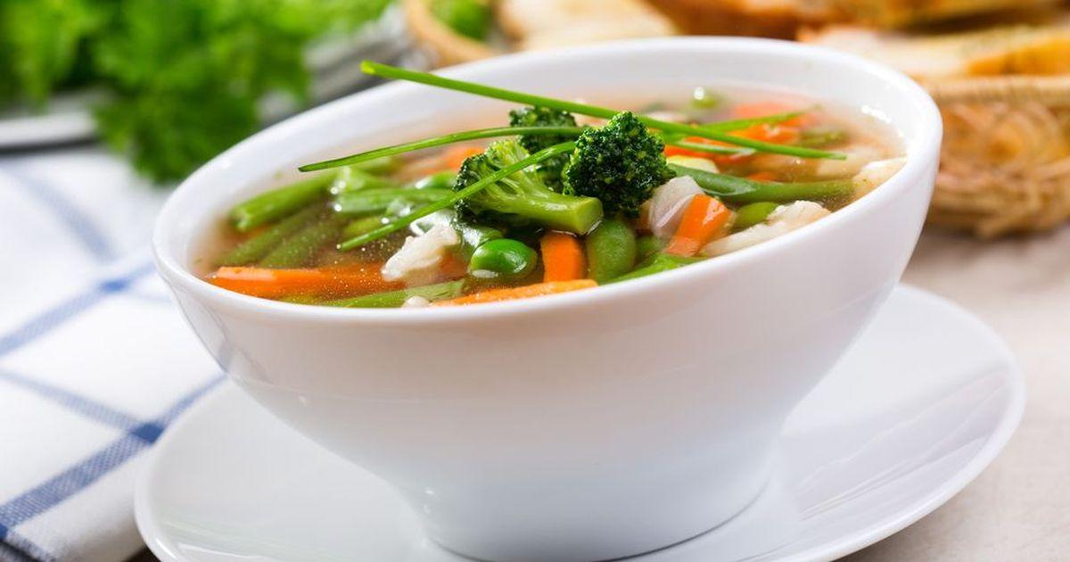 Фото Овощной суп минестроне