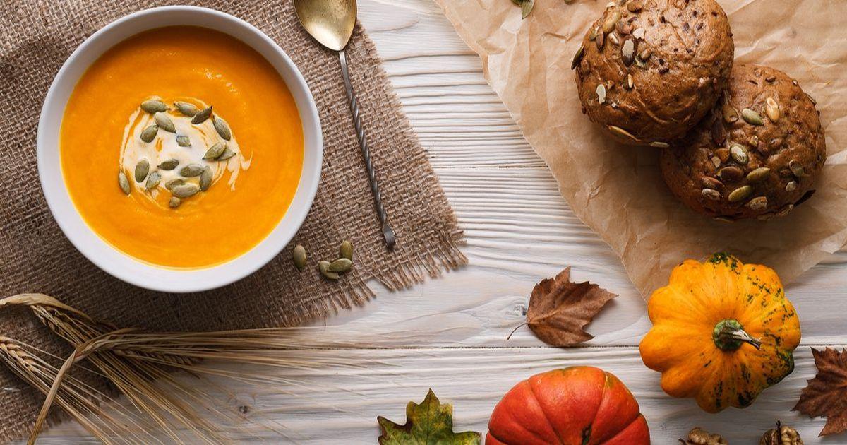Фото Крем-суп из запечённой тыквы